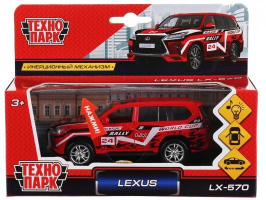 Машина металл свет-звук LEXUS LX-570 СПОРТ12см, открыв. двери, инерц.в кор. Технопарк в кор.2*36шт