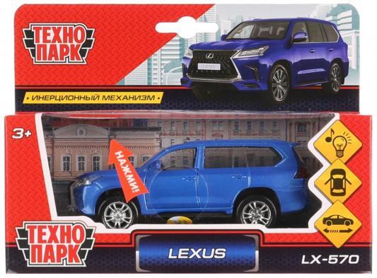 Машина металл свет-звук LEXUS LX-57012см, открыв. двери, инерц,синий в кор. Технопарк в кор.2*36шт
