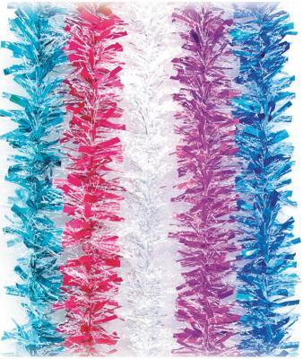 Мишура Снежная, 1 штука, диаметр 50 мм, длина 2 м, ассорти 5 цветов, Г-227 мишура каз ком снежная 5 200 см в ассортименте