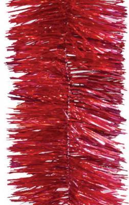 Фото - Мишура 1 штука, диаметр 100 мм, длина 2 м, красная, 5-180-10 мишура одноцветная 30 мм длина 2 м пвх