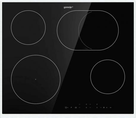 Встраиваемая варочная панель GORENJE/ Электрическая, Gorenje+, 5.4x60x52 см, стеклокерамика, независимая, черная