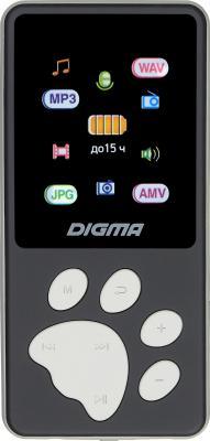 "1132617 Плеер Hi-Fi Flash Digma S4 8Gb черный/серый/1.8""/FM/microSDHC"