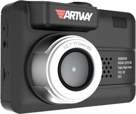 Видеорегистратор с радар-детектором Artway MD-107 GPS видеорегистратор с радар детектором artway md 108 signature 3 в 1 super fast gps черный