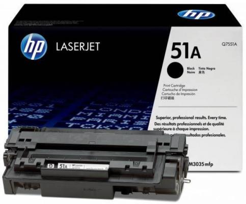 Тонер-картридж HP Q7551A for LJ P3005/M3035mfp/M3027mfp (6500 pages) hp q7551a black