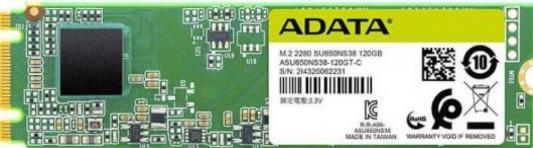 Фото - Накопитель SSD A-DATA M.2 SATA III 120Gb ASU650NS38-120GT-C SU650 2280 (ASU650NS38-120GT-C) ssd накопитель transcend ts120gmts820s 120gb m 2 2280 sata iii ssd ts120gmts820s