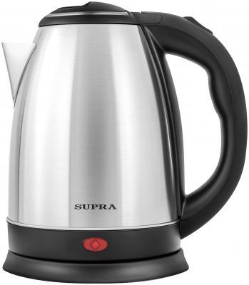 цена на Чайник электрический Supra KES-1801S 1500 Вт серебристый чёрный 1.8 л нержавеющая сталь