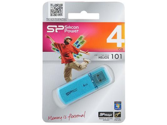Внешний накопитель 4GB USB Drive <USB 2.0> Silicon Power Helios 101 Blue SP004GBUF2101V1B usb накопитель 4gb silicon power helios 101 usb 2 0 синий sp004gbuf2101v1b