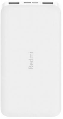 Мобильный аккумулятор Xiaomi Redmi Power Bank PB100LZM Li-Pol 10000mAh 2.6A+2.4A белый 2xUSB цена и фото