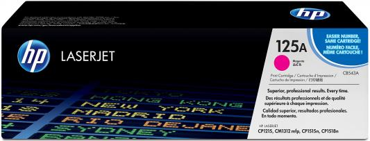Тонер-картридж HP CB543A для CLJ CP1215/CP1515/CP1518 magenta (1 400 стр) hp 125a cb543a пурпурный для clj cp1215 cp1515 cp1518 1400стр