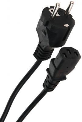 Фото - Кабель компьютер - розетка 220V EU (прямой) <VDE> 3GX0,75mm2, медь, TELECOM <TE021-CU0.75-3>, 3,0m cablexpert кабель питания 10м schuko c13 3х1кв мм черный с заземлением пакет pc 186 1 10m