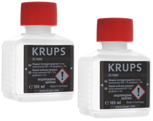 Жидкость для очистки Krups XS900031, 100 мл х 2 жидкость для очистки krups xs900031 100 мл х 2