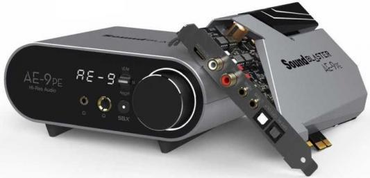 Звуковая карта Creative PCI-E Sound Blaster АЕ-9 PE (Sound Core3D) 5.1 Ret внутренняя звуковая карта creative sound blaster z se
