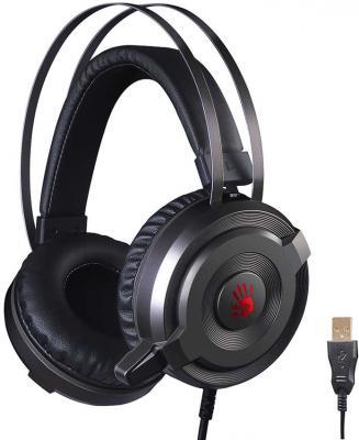 мониторы дыхания Наушники с микрофоном A4 Bloody G520 черный/серый 1.8м мониторы оголовье (G520)