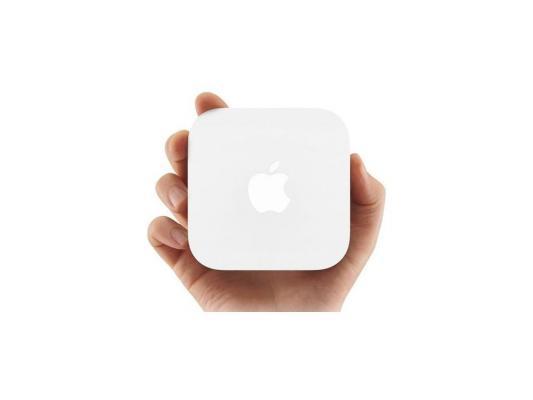 все цены на Беспроводной маршрутизатор Apple AirPort Express MC414RU/A 802.11bgn 300Mbps 5 ГГц 2.4 ГГц 1xLAN USB USB белый онлайн
