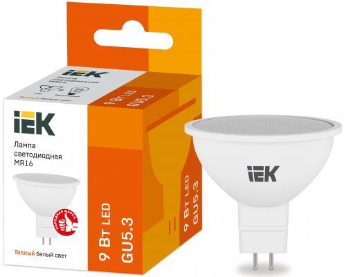 Iek LLE-MR16-9-230-30-GU5 Лампа LED MR16 софит 9Вт 230В 3000К GU5.3