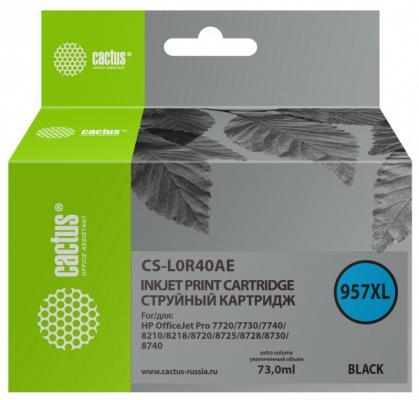 Фото - Картридж струйный Cactus 957XL CS-L0R40AE черный (73мл) для HP OfficeJet 8210/8218/8720/8725/8730 принтер hp officejet pro 8210 черный