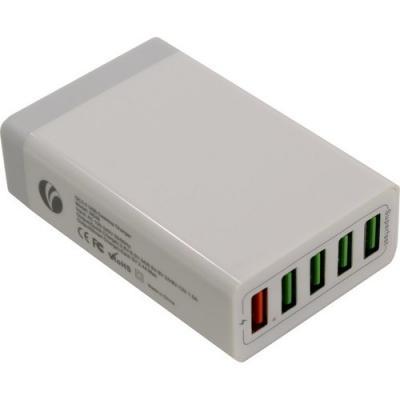 VCOM CA-M046 Зарядное устройство на 5 портов AC (EU Plug 100-220V) -> USB, IC, Quick Charge<M046/CA-M046>