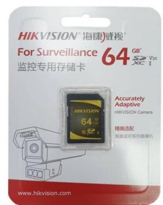 Фото - SecureDigital 64Gb Hikvision HS-SD-P10/64G {SDXC Class 10, UHS-I} видеорегистратор для видеонаблюдения hikvision hiwatch ds h116g
