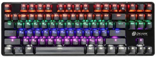 Клавиатура проводная Oklick 969G SHOTGUN USB черный цена и фото
