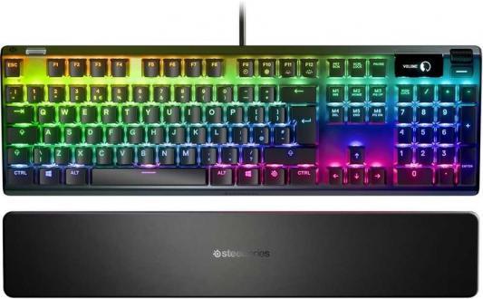 Клавиатура проводная Steelseries Apex Pro Ru USB черный