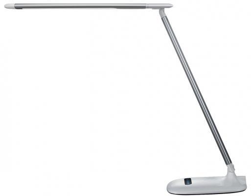 Светильник настольный SONNEN BR-896, на подставке, светодиодный, 10 Вт, алюминий, серебряный, 236663