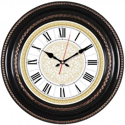 Часы настенные аналоговые Бюрократ WallC-R68P коричневый