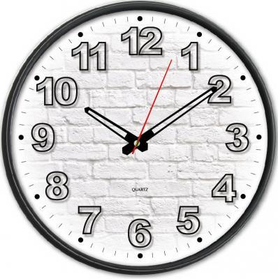 Часы настенные аналоговые Бюрократ WallC-R71P черный