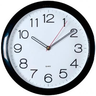 Часы настенные аналоговые Бюрократ WallC-R78P черный