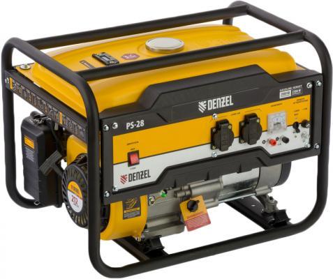 Генератор бензиновый PS 28, 2,8 кВт, 230В, 15л, ручной стартер// Denzel