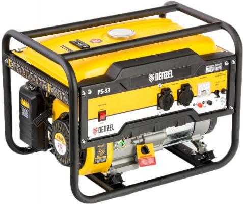 Картинка для Генератор бензиновый PS 33, 3,3 кВт, 230В, 15л, ручной стартер// Denzel