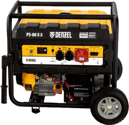 Картинка для Генератор бензиновый PS 80 E-3, 6,5 кВт, 400В, 25л, электростартер// Denzel