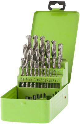 Фото - Набор сверл по металлу, 1-13 мм (через 0,5 мм), 25 шт., HSS, в металлической коробке// Сибртех набор сверл по металлу 1 10 мм через 0 5 мм hss 19 шт пластик коробка цил хвостовик сибртех