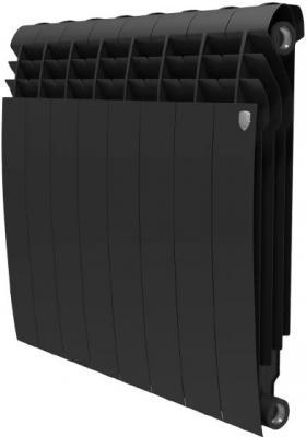 Радиатор Royal Thermo BiLiner 500 /Noir Sable - 8 секц. биметаллический радиатор rifar рифар b 500 нп 10 сек лев кол во секций 10 мощность вт 2040 подключение левое