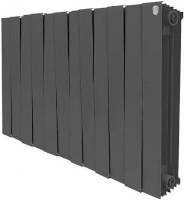 Радиатор Royal Thermo PianoForte 500 new/Noir Sable - 12 секц. биметаллический радиатор rifar рифар b 500 нп 10 сек лев кол во секций 10 мощность вт 2040 подключение левое