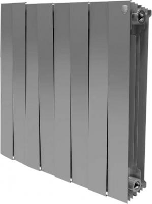 Радиатор Royal Thermo PianoForte 500 new/Silver Satin - 8 секц. биметаллический радиатор rifar рифар b 500 нп 10 сек лев кол во секций 10 мощность вт 2040 подключение левое