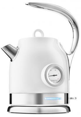 Фото - Чайник электрический KITFORT КТ-694-1 2200 Вт белый 1.7 л нержавеющая сталь чайник электрический kitfort кт 675 1 2200 вт белый 1 7 л нержавеющая сталь