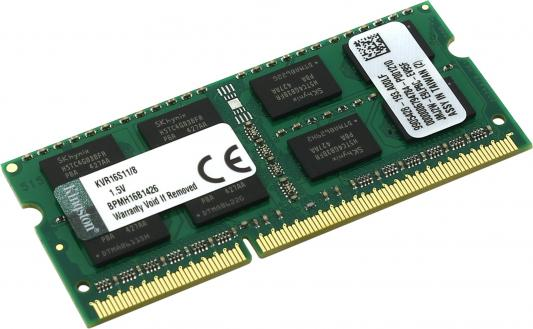 все цены на Оперативная память SO-DIMM DDR3 Kingston 8Gb (pc-12800) 1600MHz (KVR16S11/8)