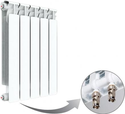 Радиатор RIFAR B 500 х 5 сек НП лев (BVL) (собранный) биметаллический радиатор rifar рифар b 500 нп 10 сек лев кол во секций 10 мощность вт 2040 подключение левое