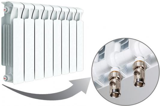 Радиатор RIFAR Monolit 350 х 8 сек НП лев (MVL) 50мм биметаллический радиатор rifar рифар b 500 нп 10 сек лев кол во секций 10 мощность вт 2040 подключение левое