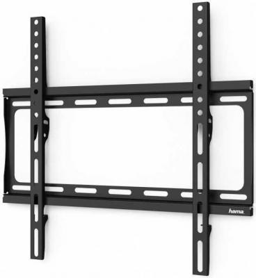 Фото - Кронштейн для телевизора Hama H-118068 черный 32-65 макс.35кг настенный фиксированный кронштейн hama h 118105 черный для жк тв 32 65 настенный vesa 400x400 до 35кг