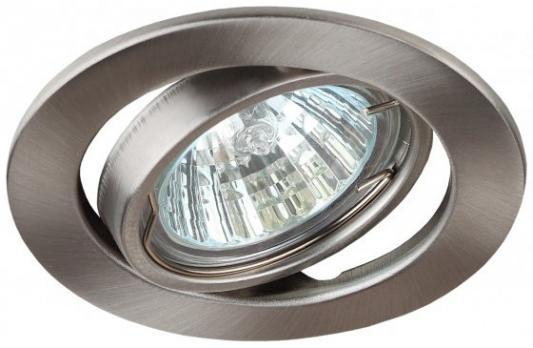 Эра C0043808 ST2A SN Светильник штампованный поворотный MR16,12V/220V, 50W сатин никель светильник встраиваемый эра kl29 а sn n литой поворотный тарелка mr16 12v 50w сатин никель никель