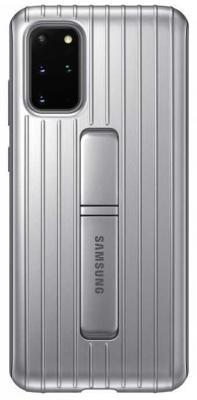 Фото - Чехол (клип-кейс) Samsung для Samsung Galaxy S20+ Protective Standing Cover серебристый (EF-RG985CSEGRU) чехол клип кейс samsung s20 g980 clearview l blue ef zg980clegru