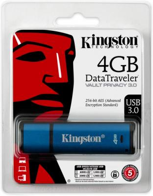 Фото - Флешка 4Gb Kingston DataTraveler Vault Privacy USB 3.0 синий DTVP30DM/4GB gibson logo men s hoodie x large