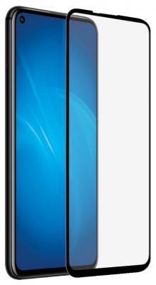 Закаленное стекло с цветной рамкой (fullscreen+fullglue) для Huawei Honor 20 DF hwColor-105 (black)