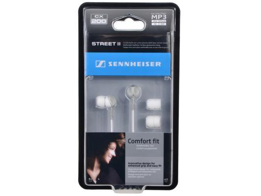 Наушники вставные Sennheiser CX 200 Street II White автомобильное зарядное устройство smart buy turbo pd usb usb c 3 2 4 a черный sbp 2033c