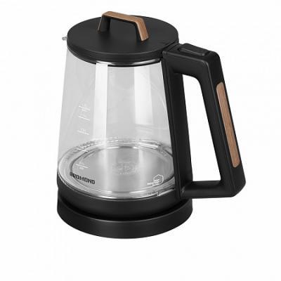 Чайник электрический Redmond RK-G190 2200 Вт чёрный 1.7 л стекло чайник redmond skykettle g210s 2200 вт чёрный 1 7 л стекло