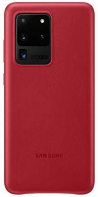 Чехол (клип-кейс) Samsung для Samsung Galaxy S20 Ultra Leather Cover красный (EF-VG988LREGRU) чехол клип кейс gresso smart slim для samsung galaxy s20 ultra красный [gr17sms197]