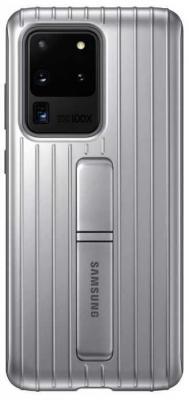 Фото - Чехол (клип-кейс) Samsung для Samsung Galaxy S20 Ultra Protective Standing Cover серебристый (EF-RG988CSEGRU) чехол клип кейс samsung s20 g980 clearview l blue ef zg980clegru
