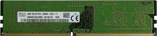 Оперативная память 4Gb (1x4Gb) PC4-21300 2666MHz DDR4 DIMM CL19 Hynix HMA851U6JJR6N-VKN0 оперативная память 4gb 1x4gb pc4 21300 2666mhz ddr4 dimm cl19 transcend jm2666hlh 4g