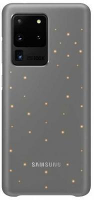 Чехол (клип-кейс) Samsung для Samsung Galaxy S20 Ultra Smart LED Cover серый (EF-KG988CJEGRU) чехол клип кейс gresso smart slim для samsung galaxy s20 ultra красный [gr17sms197]